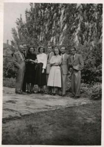 3. kép – Flerkó Béla, Kiss Tibor, Bárdos Vera, Gömöry András, 1950.