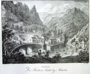 1. kép Mehádia 1820-as években
